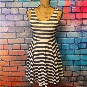Altar'd State Blue and White Striped Dress